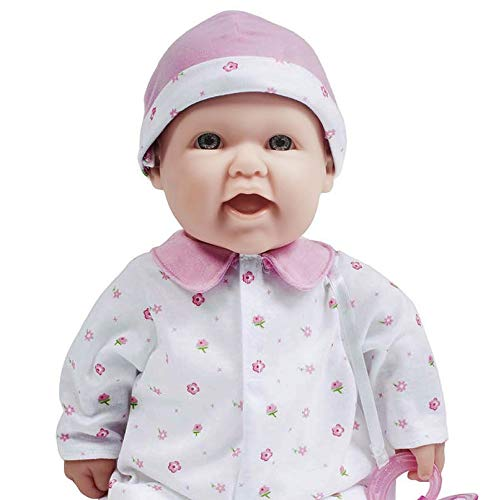 41MC3qz X6L - JC Toys, La Baby 16-inch Pink Washable Soft Baby Doll with Baby Doll Accessories - for Children 12 Months and Older, Designed by Berenguer