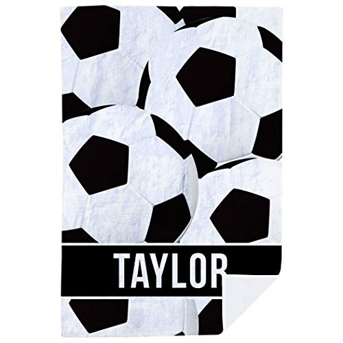 (ChalkTalkSPORTS Personalized Soccer Premium Blanket | Ball)