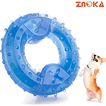 ZNOKA Pet Products Arctic Freeze Fetch Food Cooling Teether Upgraded Chew Toy (Ring)