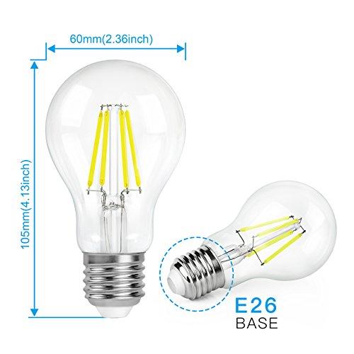 A19 Led Filament Bulb Nostalgic Edison Style 4w To Replace: SHINE HAI A19 LED Vintage Filament Bulb, 4W (40W