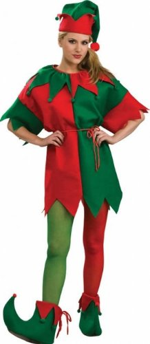 Women's Elf Tights Adult Costume - Small ()