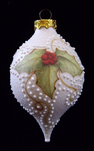 2011 Holly Hand Painted Porcelain Christmas Tree Ornament
