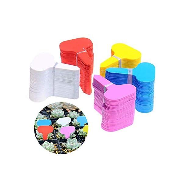 MOPKJH Tag Giardino Impianto di plastica Ecologico Etichette per Piante Spesse Etichette vegetali per Piante da Esterno… 1 spesavip