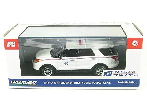 2014 Ford Explorer Postal Police United States Postal Service (USPS) White 1/43 Diecast Model Car by Greenlight 86524 (Toy Ford Explorer Police Car)