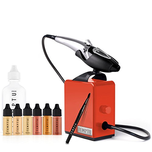 Temptu Perfect Canvas Airbrush Makeup Kit with 2.0 Poppy Red Compressor