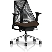 Herman Miller Sayl Task Chair: Tilt Limiter - Adj Seat Depth - Height Adj Arms - Hard Floor Casters - Polished...