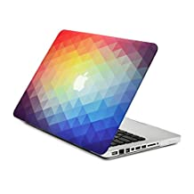 """Unik Case Gradient Ombre Triangular Galore Graphic Ultra Slim Light Weight Matte Rubberized Hard Case Cover for Macbook Pro 13"""" 13-inch (Model: A1278 /with or without Thunderbolt) - NOT for Retina Display"""