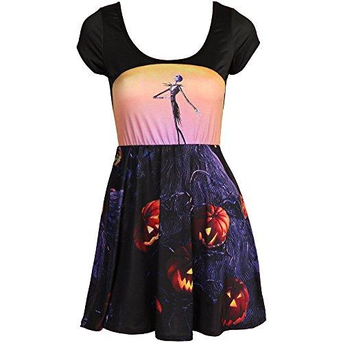 (Disney Nightmare Before Christmas Pumpkin Skater Dress)