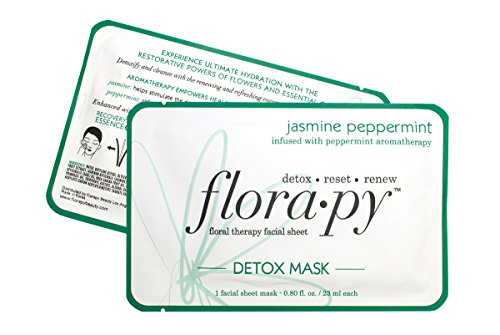 Florapy Beauty Detox Sheet Aromatherapy Mask, Jasmine Peppermint, 1 Count