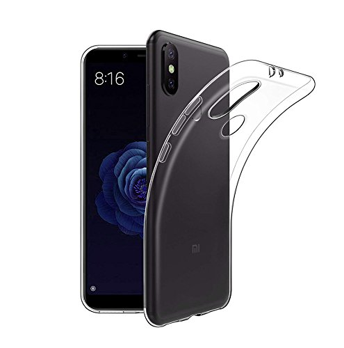 Funda Xiaomi Mi A2/mi 6X, Carcasa Xiaomi Mi A2 TPU Funda Anti-Rasguñ o Anti-Golpes Cover Protectora TPU Caso Bumper Slim Silicona Case para Xiaomi A2 Protectora Funda - Transparente Lanseede