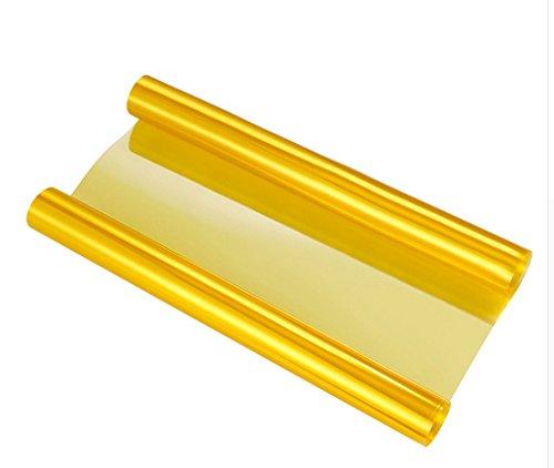 SKS Distribution® - Vinilo para faros de coche, autoadhesivo, impermeable, 100 x 30cm, color dorado 100 x 30cm SKS Distribution®