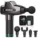 Massage Gun, RENPHO C3 Deep Tissue Muscle Massager, Powerful Percussion Massager Handheld with Portable Case for Home…