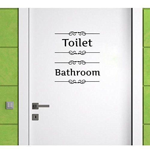 Beautiful Room Sign,Toilet and Bathroom,Pack of 2,FashionBoutique classic HOME Decal Quote,prettify your life!