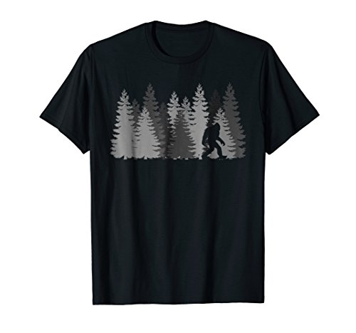 Bigfoot in the Forest T-Shirt Sasquatch ()