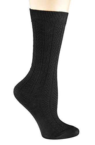 Price comparison product image Black Socks for Girls,  Cable Knit Knee Socks Set of 3