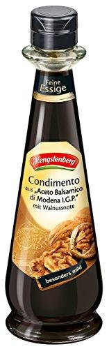 Hengstenberg Condimento aus Aceto Balsamico die Modena mit Walnussnote, 6er Pack (6 x 250 ml)