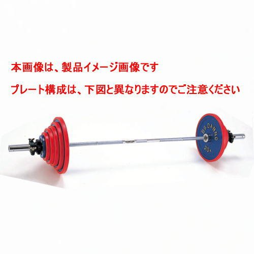 DANNO ダンノ A220バーベル160kgセット(φ50mm) D-5765   B0014TQUZ0