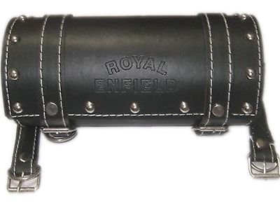 Tool Leather Studded Roll - RS Vintage Parts EBY1149 Black Studded Leather Tool Roll Bag For Royal Enfield Bullet Motorcycles…