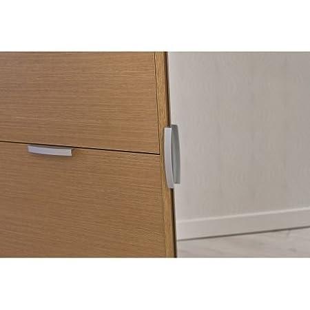 Acabado blanco Zapatero 4 puertas abatibles en horizontal 1 puerta espejo abatible en vertical Intradisa