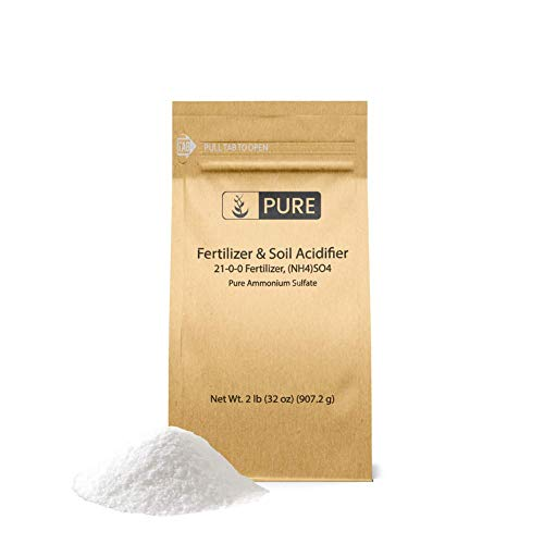 Ammonium Sulfate (2 lb.) by Pure Organic Ingredients, Eco-Friendly Packaging, Fertilizer & Soil Acidifier, Highest Quality, NO Iron OR Aluminum (Also in 8 oz, 1 lb, 5 lb, 25 lb)