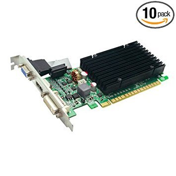 1 GB, DDR3 SDRAM, GeForce 210 Graphic Card, EVGA 01G-P3-1313-KR ( 10 PACK ) BY NETCNA