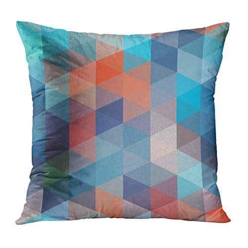 Tessellated Patterns - Emvency Throw Pillowcase Colorful Abstract Tessellation Pattern Vibrant Polygon Tessellated Abstraction Color Creative Cube Cubism Fashion Square Size 20 x 20 Inches Zippered Home Decor Cushion Covers