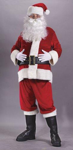 d8f118c87d859 Image Unavailable. Image not available for. Color  Rich Velvet Plus Size Adult  Santa Claus Suit Costume