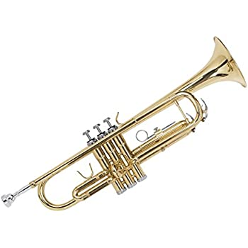 Gold Lacquer Brass Bb Trumpet with Cupronickel Valves, Case, Cloth, and Gloves (609546)