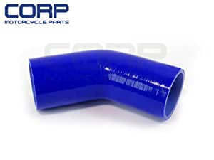 """SILICONE HOSES 45 Degree Standard Elbow Hose 60mm 2 3/8"""" FOCUS RS ZX3 45° blue"""
