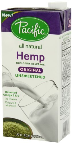 Pacific Natural Unsweetened Hemp Milk, Original, 6 Count