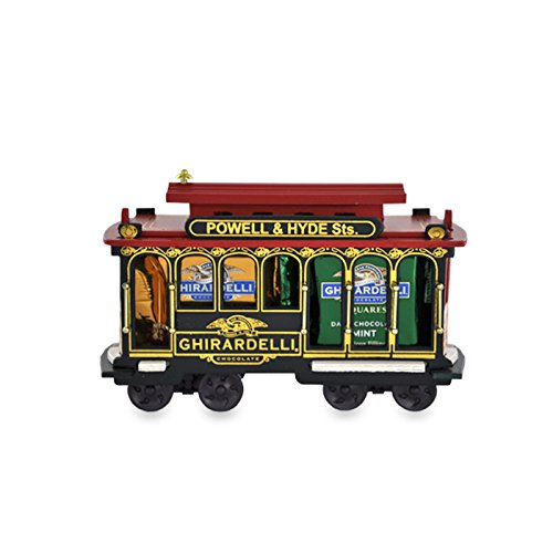 (Ghirardelli Small Wooden Cable Car With Assorted Chocolate SQUARES)