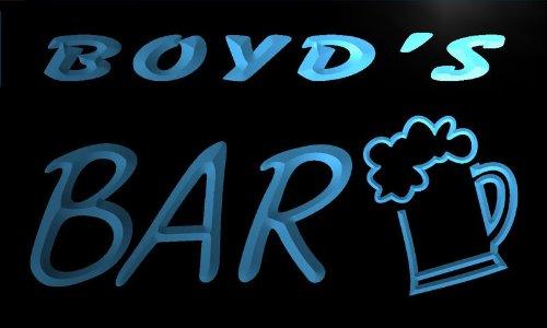 Boyd Glass - pv481-b Boyd's Bar Beer Mug Glass Pub Neon Light Sign