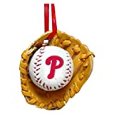 Kurt Adler Phillies Baseball in Glove Christmas Ornament