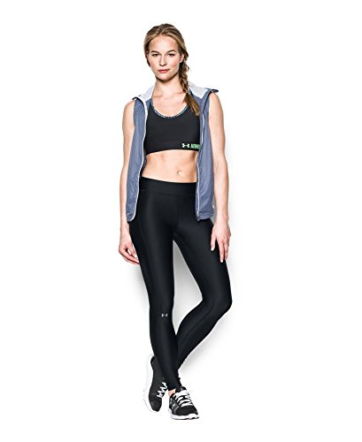 Under Armour Womens HeatGear Armour Legging, Black /Metallic Silver, Small by Under Armour (Image #2)