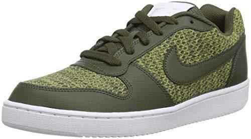 Nike Ebernon Bas Chaussures De Basket-ball Prem Multicolore (kaki Olive / Cargo Neutre Blanc 001)