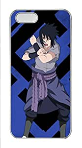 iPhone 5S Case,Hard Plastic Polycarbonate Material Clear Edge Classic Popular Image Christmas Birthday Gift Durable Slim Fit Protective Case for iPhone 5/5S-Sasuke Uchiha Naruto 1
