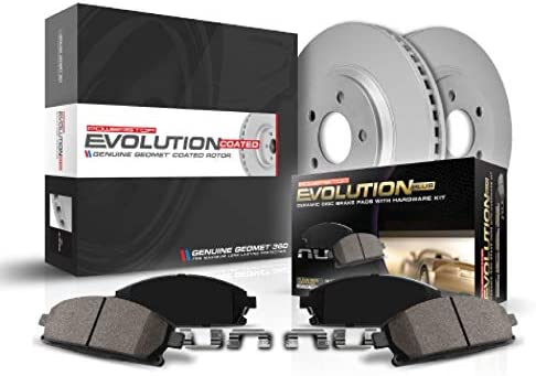 Power Stop CRK4875,Z17 Front Coated Rotor Kit-Coated Brake Rotors /& Ceramic Brake Pads