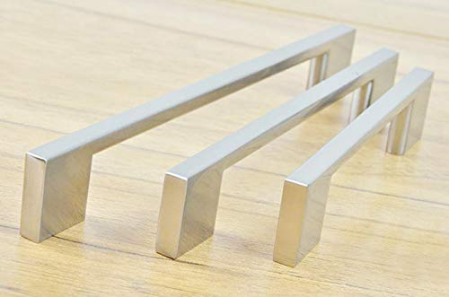 Stainless Steel Brush finish Kitchen Cabinet Drawer Handles Bar T Handle(C.C.:96mm L:130mm) (Cc Bar Steel Stainless 96mm)