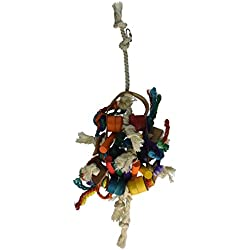 Penn Plax Leather Kabob Bird Toy for Large Parrots