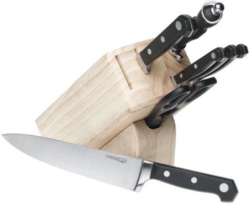 UPC 045908772161, Farberware Pro Forged 8-Piece Knife Block Set, Pine