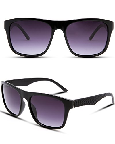 PUKCLAR Polarized Wayfarer Sunglasses for Men Women UV400 Protection Ultra Light Frame pk1011
