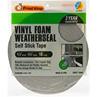 Thermwell V445H 3/8 x 1/2-In. x 10-Ft. Gray Vinyl Foam Weatherseal Tape - Quantity 24 by Thermwell