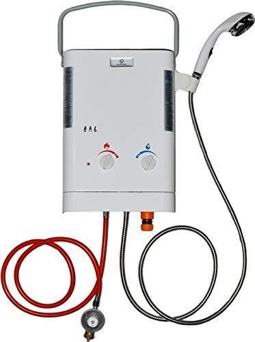 Eccotemp CE-L5 Calentador de agua de Paso de Exterior, portátil, de 5 litros. [Clase de eficiencia energética G] ECCL537EN