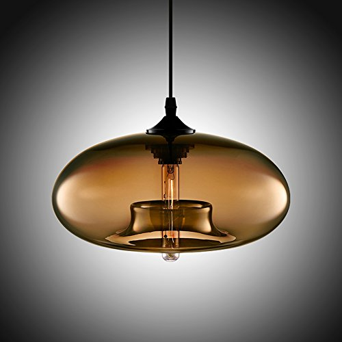 Blown Glass Globe Pendant Light - 8