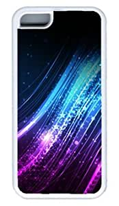 Abstract The Light of Blue and Purple DIY Rubber White iphone 5C Case Perfect By Custom Service