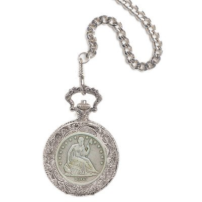 Seated Liberty Half Dollar Pocket Watch
