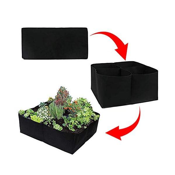 Sytaun Panno di Feltro 4 Griglie Orto da Giardino Contenitore per Piante Borsa da Coltivazione Vaso per Fioriera… 1 spesavip