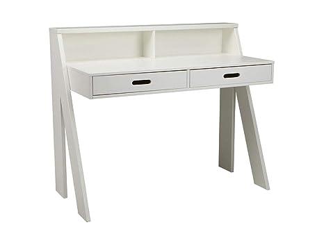 Made by woood bureau design original bois blanc max amazon