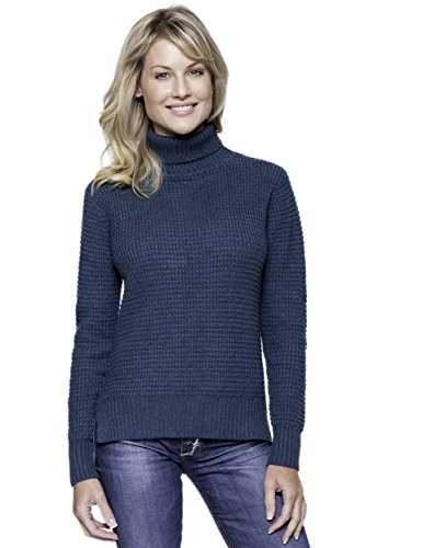 Cashmere Blend Turtle Neck Sweater - Teal - M (Cashmere Petite Turtleneck)