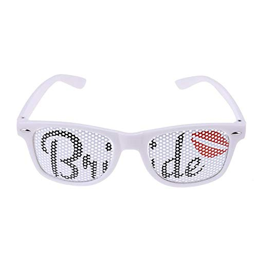 (Photobooth Props - 1pc 15x5cm Ostiole Red Lip Bride Amp Groom Sunglasses Fancy Costume Party Glasses Wedding - To Hippie Off Clay Pirate High Party Boy Queen)
